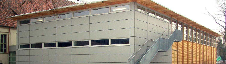 neubau einer sporthalle in landsberg am lech architekturb ro christoph maas m nchen. Black Bedroom Furniture Sets. Home Design Ideas